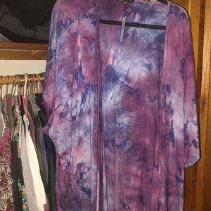 Tie-dye cardigan